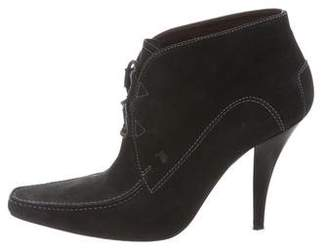 Tod's Pointed-Toe Suede Booties