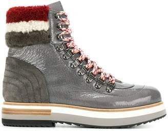 Fabi faux shearling trim boots