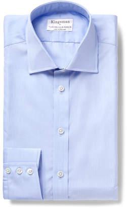 Turnbull & Asser Kingsman + Light-Blue Slim-Fit Cutaway-Collar Cotton-Poplin Shirt