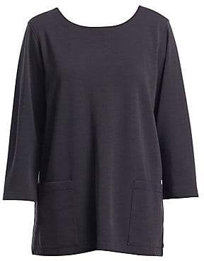Caroline Rose Women's Flat Knit Pocket Wool Tunic