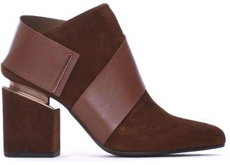 Vic Matié Ankle Boots Cognac-coloured Suede Strap