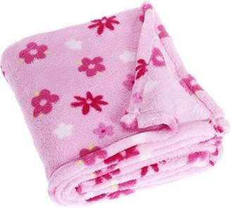 Playshoes Soft Fleece Blanket (Pink Flowers, 100x150cm)
