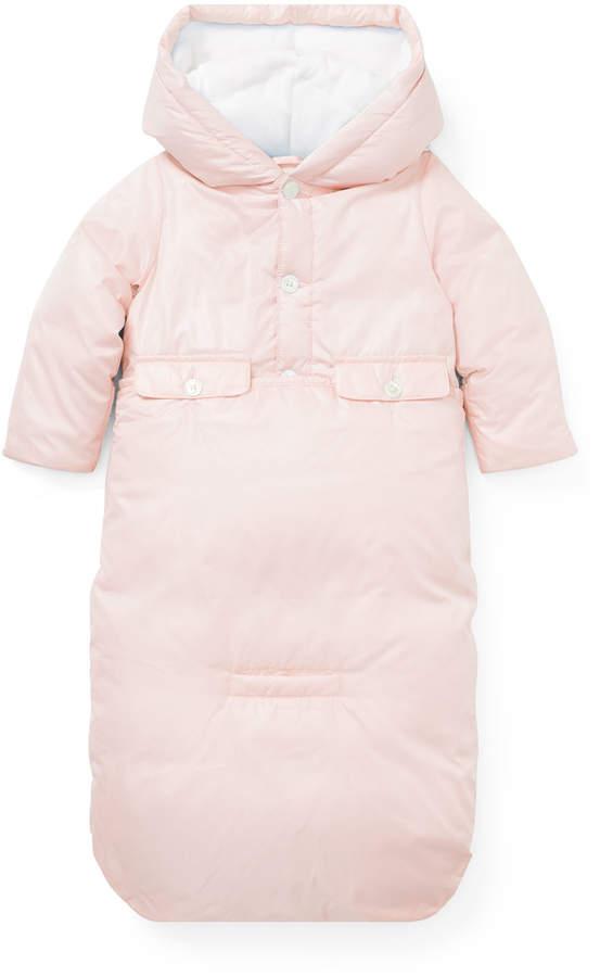 Ralph Lauren Childrenswear Taffeta Convertible Puffer Bunting, Size 3-9 Months