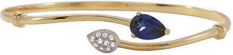 JCPenney FINE JEWELRY Blue & White Lab-Created Sapphire Bypass Bangle Bracelet