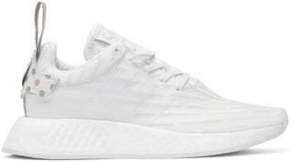 adidas Originals White NMD R2 PK Sneakers $130 thestylecure.com