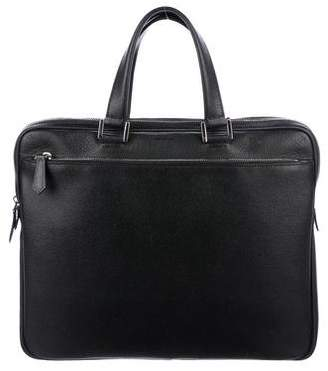 Fendi Textured Leather Briefcase