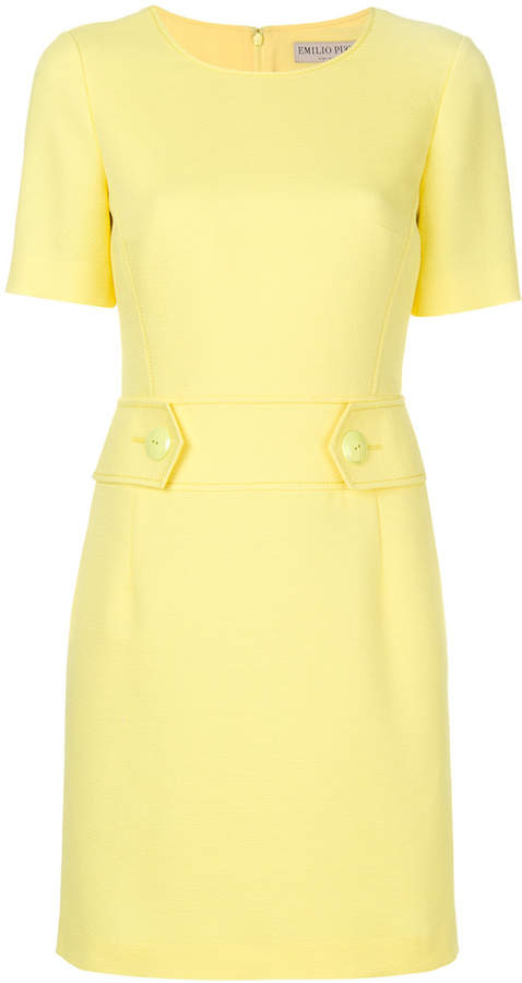 Emilio Pucci tailored mini shift dress
