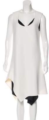 Narciso Rodriguez Asymmetrical Sleeveless Midi Dress White Asymmetrical Sleeveless Midi Dress
