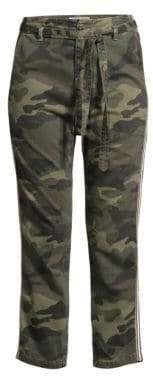 Sundry L'Automne Drawstring Belt Camo Pants