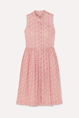 J.Crew Robin Ruffled Floral-print Cotton-poplin Dress - Red