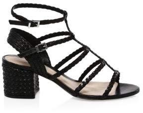 Schutz Clarcie Braided Block-Heel Sandals