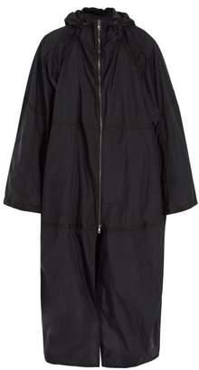 Jil Sander Oversized Hooded Technical Jacket - Mens - Dark Navy