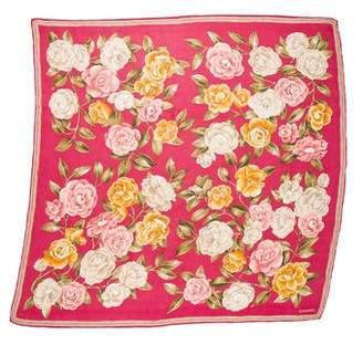 Chanel Camellia Woven Scarf