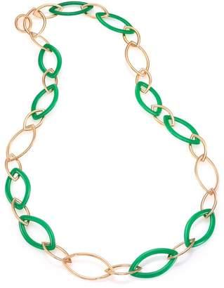 Marquis Vhernier Pop Chrysoprase & 18K Rose Gold Chain Necklace