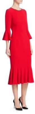 Dolce & Gabbana Cady Flutter Hem Dress