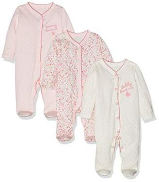Mothercare Baby Girls Mummy and Daddy Sleepsuits - 3 Pack Bodysuit,(Manufacturer Size:68CM)