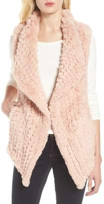 Love Token Faux Fur Vest