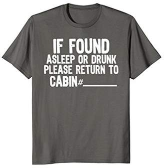 Funny Cruise T-Shirt | Asleep or Drunk Return To Cabin Shirt