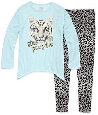 SLEEP ON IT Sleep On It 2pc Animal Print Jegging Pajama Pant Set - Girls