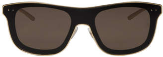 Dolce & Gabbana Gold and Black Square Sunglasses
