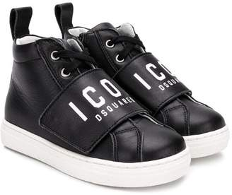 DSQUARED2 Icon touch strap hi-top sneakers