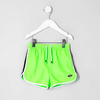 River Island Mini boys lime green swim shorts
