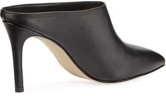 Neiman Marcus Bridget Leather Point-Toe Mules