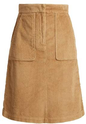Masscob Idris Corduroy Skirt - Womens - Camel