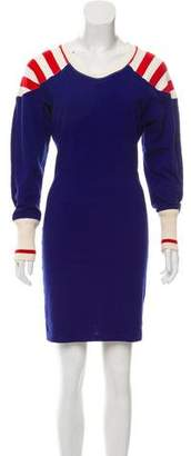 Isabel Marant Rib Knit Trim Mini Dress