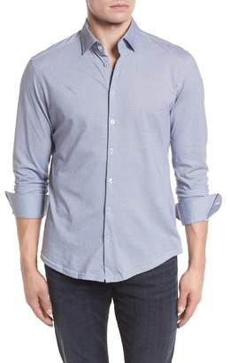 Stone Rose Diamond Print Knit Sport Shirt