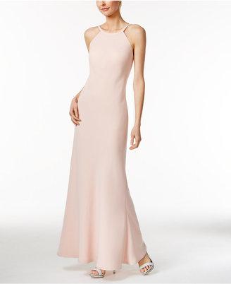 Calvin Klein Open-Back Halter Gown $199 thestylecure.com