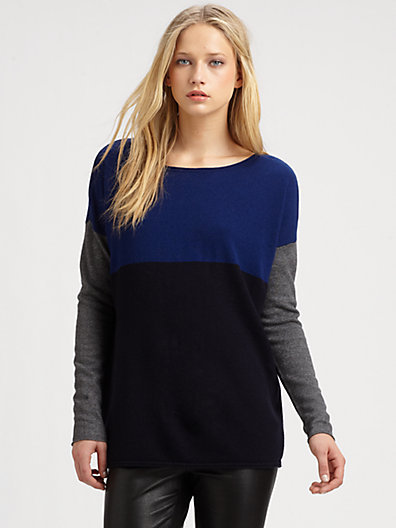 Vince Colorblock Wool & Cashmere Sweater
