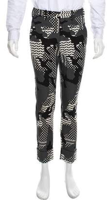 Neil Barrett Patchwork Abstract Patterned Pants
