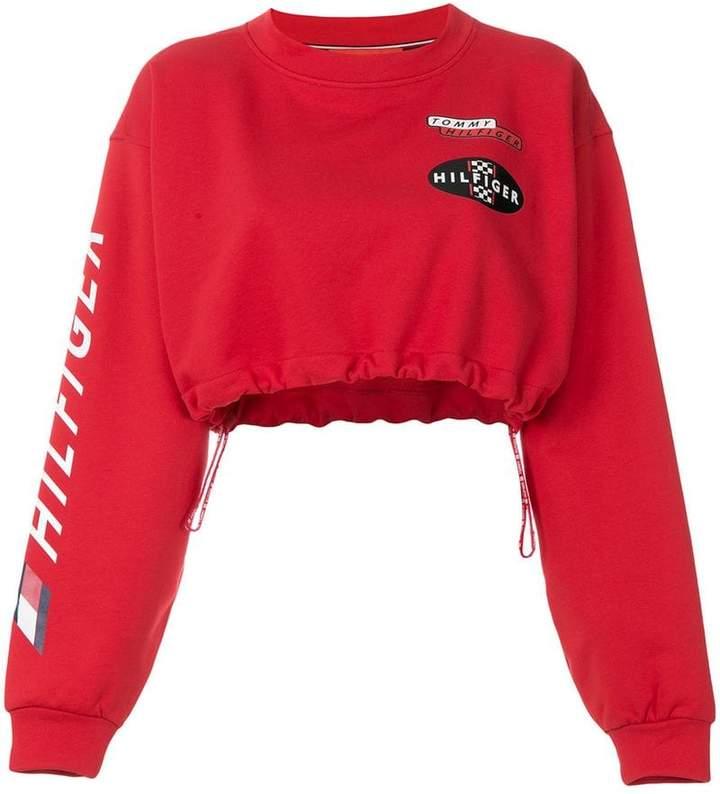 cropped Race sweatshirt