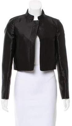 Salvatore Ferragamo Cropped Silk Jacket w/ Tags