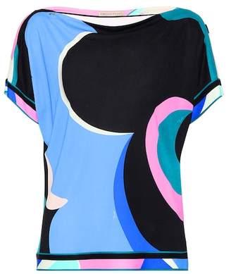 Emilio Pucci Silk-blend jersey top