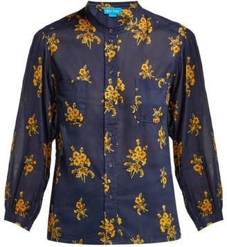 MiH Jeans Lili Floral Cotton Shirt - Womens - Navy Print