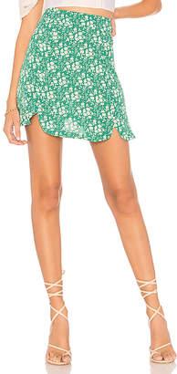 For Love & Lemons Zamira Floral Mini Skirt