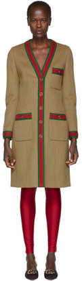 Gucci Brown GG Webbing Coat