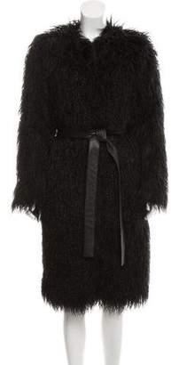 Nili Lotan Long Faux Fur Coat w/ Tags