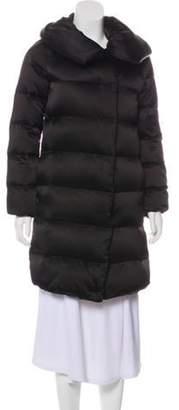 Diane von Furstenberg Knee Length Puffer Coat Black Knee Length Puffer Coat
