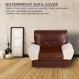 HURRISE 2PCS Sofa Protector Waterproof Cover for Armrest Chair Armchair Single Seat Recliner Furniture