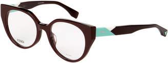 Fendi FF0160 Dark Brown Cat Eye Optical Frames