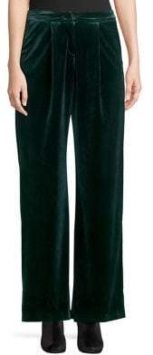 Miss Selfridge Velvet Wide-Leg Pants