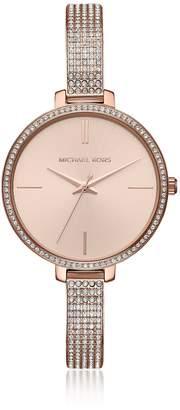 Michael Kors Jaryn Pave Rose Gold Tone Women's Watch