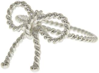 Sterling Forever Sterling Silver Twist Bow Ring