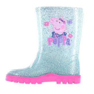 Peppa Pig Girls Glitter Floral Wellington Boots UK Size 8