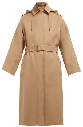 Joseph Carbon Feather Single Breasted Wool Blend Coat - Womens - Camel