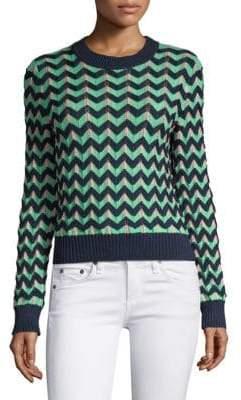 M Missoni Chunky Zig Zag Sweater