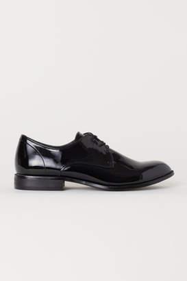 H&M Patent Derby Shoes - Black